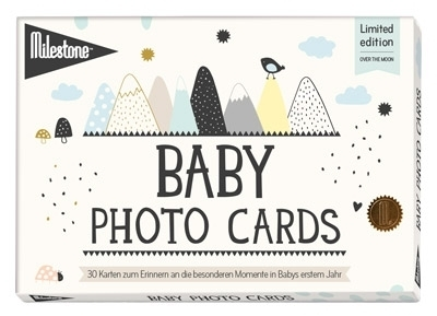 "[NB0008572] Baby Photo Cards ""Over the Moon"""